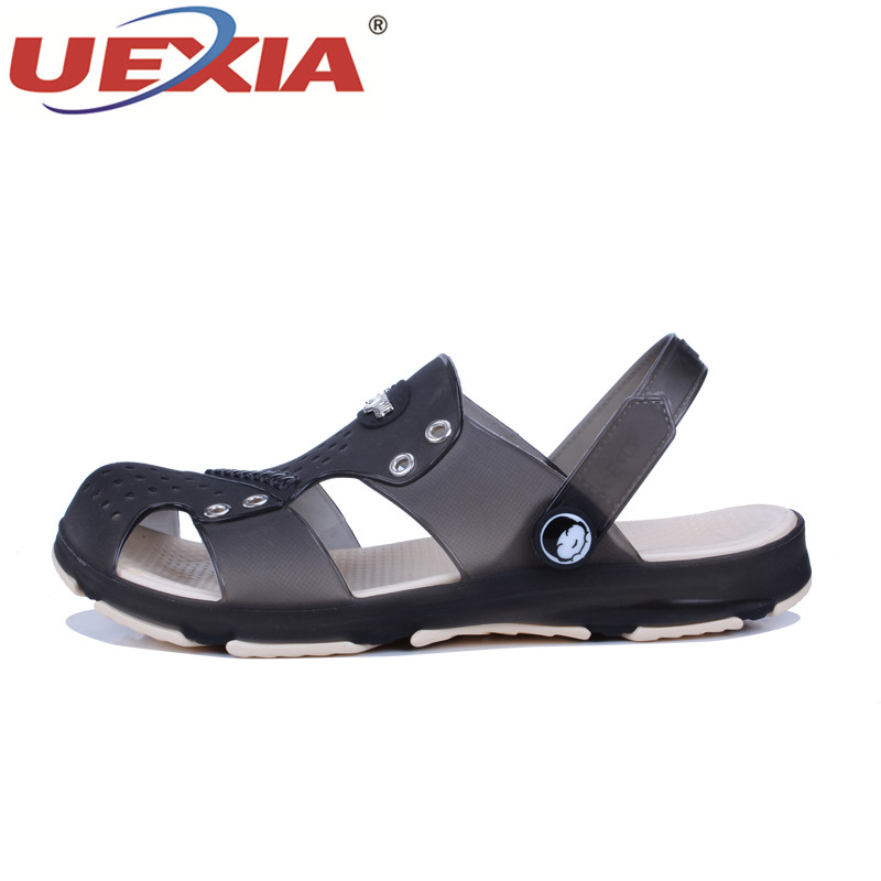 UEXIA Лето Для мужчин сад сабо тапочки EVA Повседневное модные Нескользящие сандалии для Для мужчин Слегка Тапочки мул сабо с прогулки