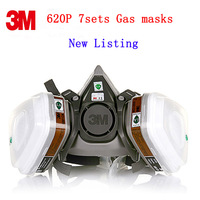 New Authentic M6200 Gas Mask Medical Silica Gel Activated Carbon Paint Chemical Dust Mask Respirator