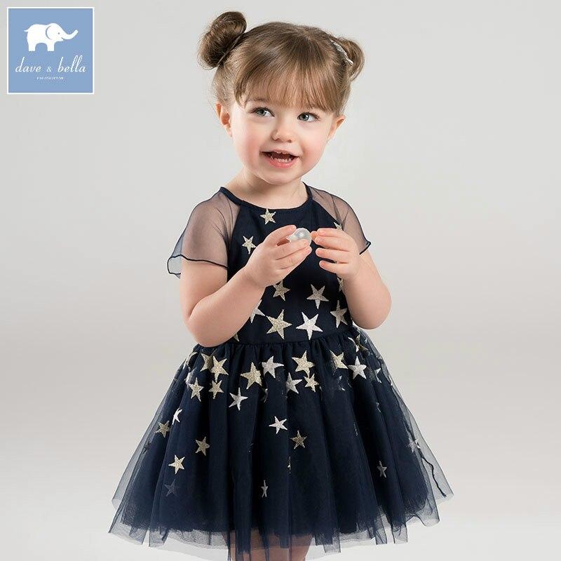 DBJ6962 dave bella spring infant baby girl s princess dress children birthday wedding party dress kids