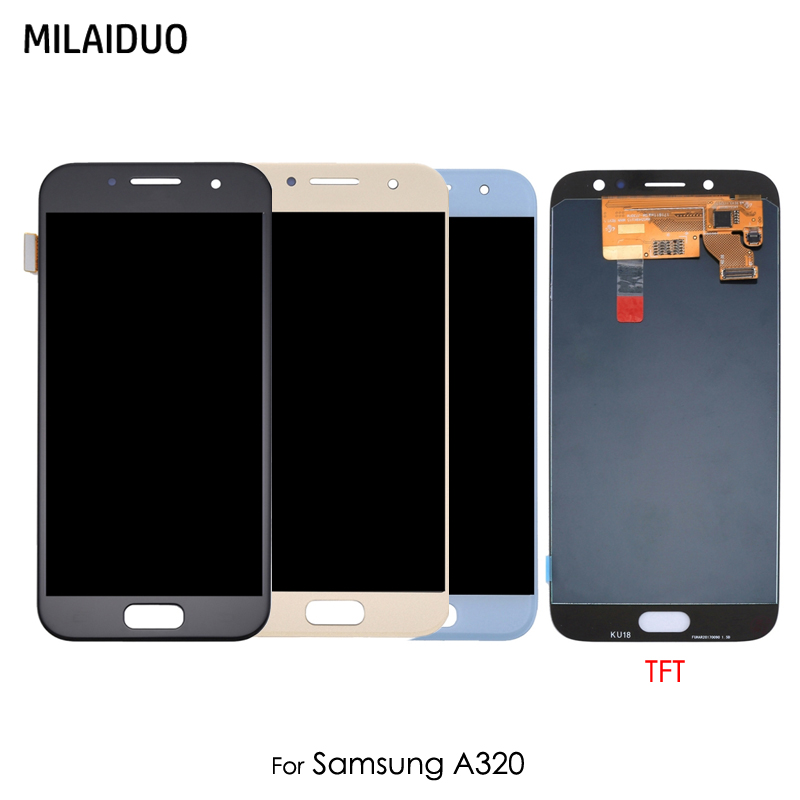 LCD Display For Samsung Galaxy A3 2017 A320 A320F TFT Touch Screen Digitizer Assembly Replacement Ajustable BrightnessLCD Display For Samsung Galaxy A3 2017 A320 A320F TFT Touch Screen Digitizer Assembly Replacement Ajustable Brightness