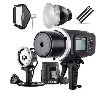 "Godox AD600BM 600Ws GN87 HSS Flash Strobe Monolight with 8700mAh Battery, 600W Portable Lamp Flash Head, 23""X23"" Flash Softbox,"