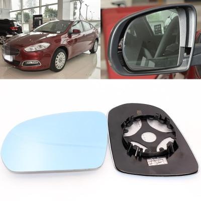 Для Fiat большое видение голубое зеркало анти Автомобильное зеркало заднего вида широкоугольный светоотражающий объектив заднего вида