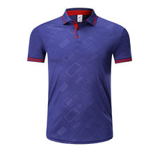 New Men Soccer Jerseys T-shirt Sportswear Running Quick Dry Sports T Shirt Adult Customized Football Short Sleeve Polo Shirts(China)