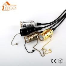 E27 ламповая розетка, винтажный светильник Эдисона, Классический ретро держатель лампы Edison, промышленная подвесная ручка, ламповый базовый переключатель/молния