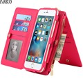 Women Apple Leather Case For Mobile Phone Case Two - In - One Split Zipper Multi - Purpose Visiting Cards Passport Holder Wallet