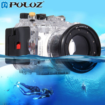 PULUZ 40m 130ft Depth Underwater Swimming Diving Case Waterproof Camera bag Housing case for SONY RX100-III DSC-RX100 III