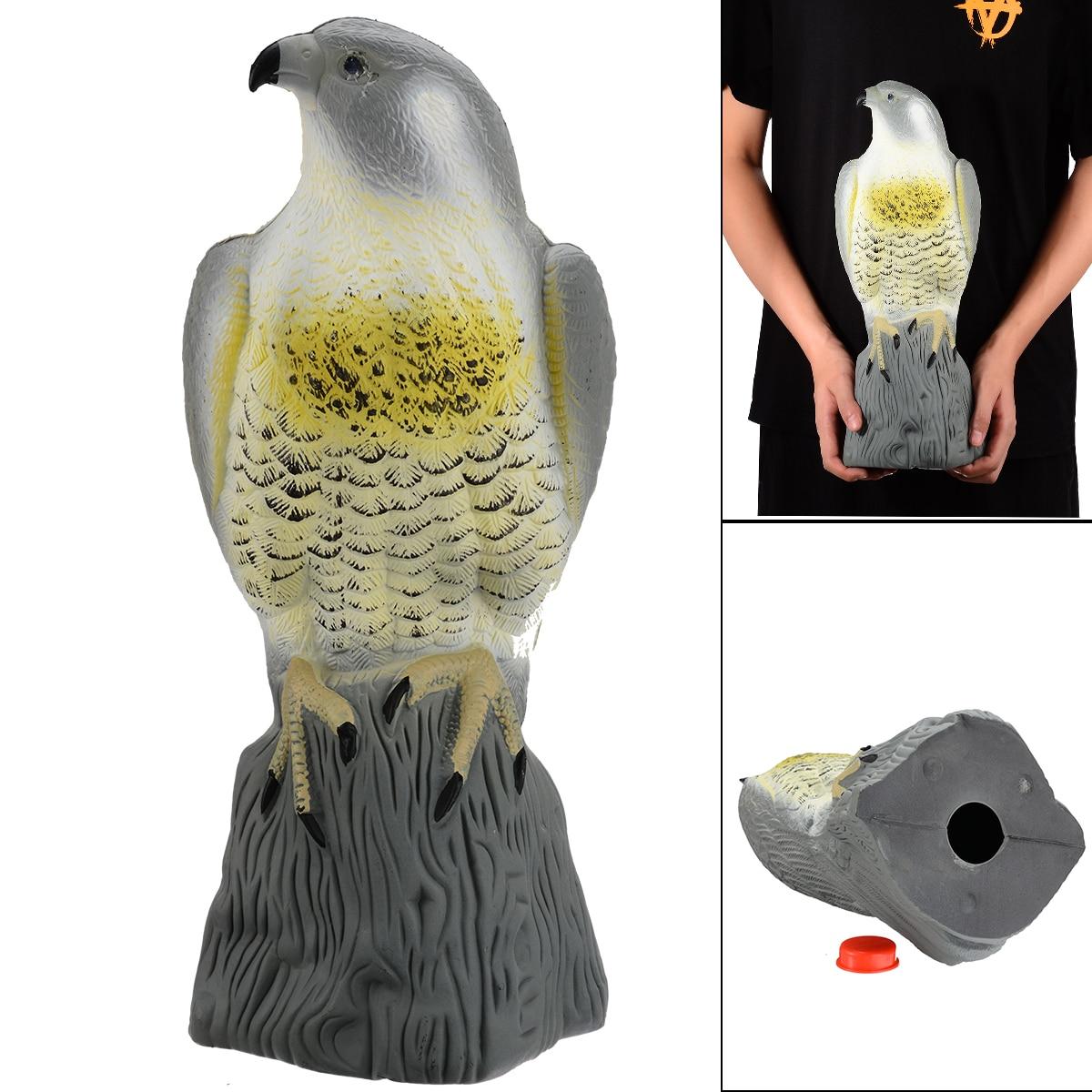 Realistic Fake Falcon Owl Hawk Hunting Decoy Deterrent Scarer Repeller for Garden Decor