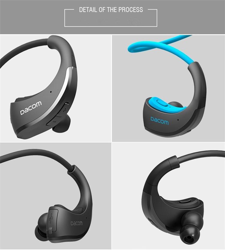 Dacom Armor Bluetooth V4.1 Stereo Headphones IPX5 Waterproof Wireless Outdoor Sports Headset Handsfree Music Earphone With Mic(16)