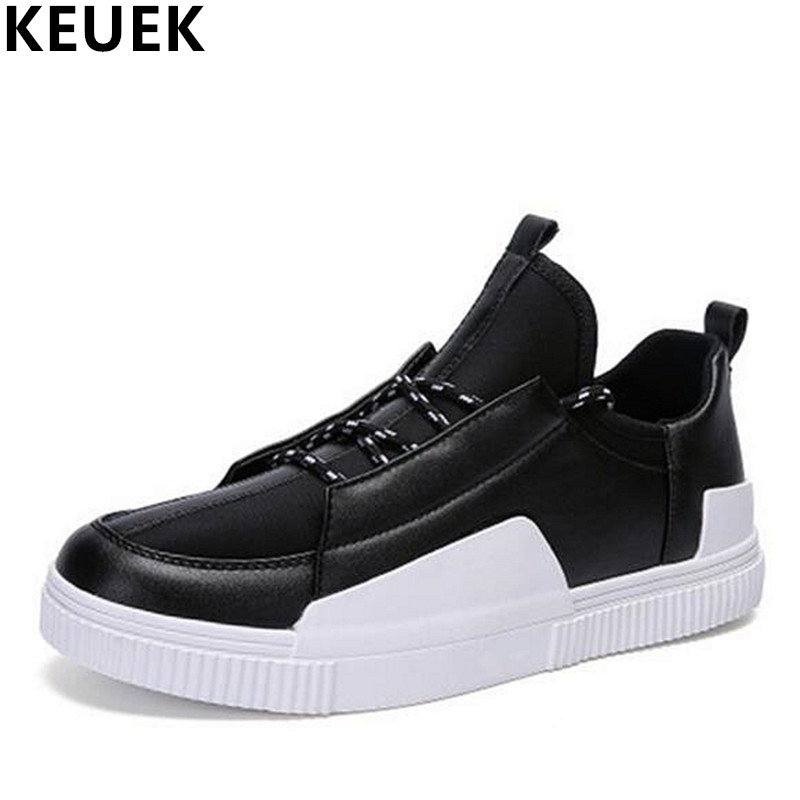 Spring Breathable Men Casual shoes Lace Up soft Leather Loafers Korean style Male Sneakers Youth Dance Shoes 01B spring autumn fashion men high top shoes genuine leather breathable casual shoes male loafers youth sneakers flats 3a