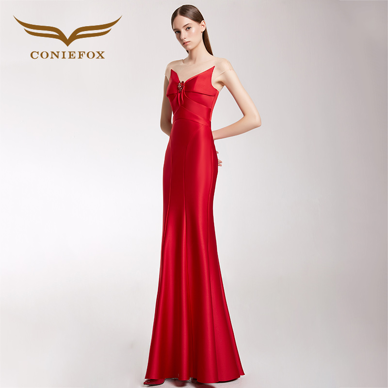 CONIEFOX 32266 red moderator Sexy personality Slim Ladies Retro backless  mermaid prom dresses party evening dress gown long new-in Evening Dresses  from ... 28cd74de9c74
