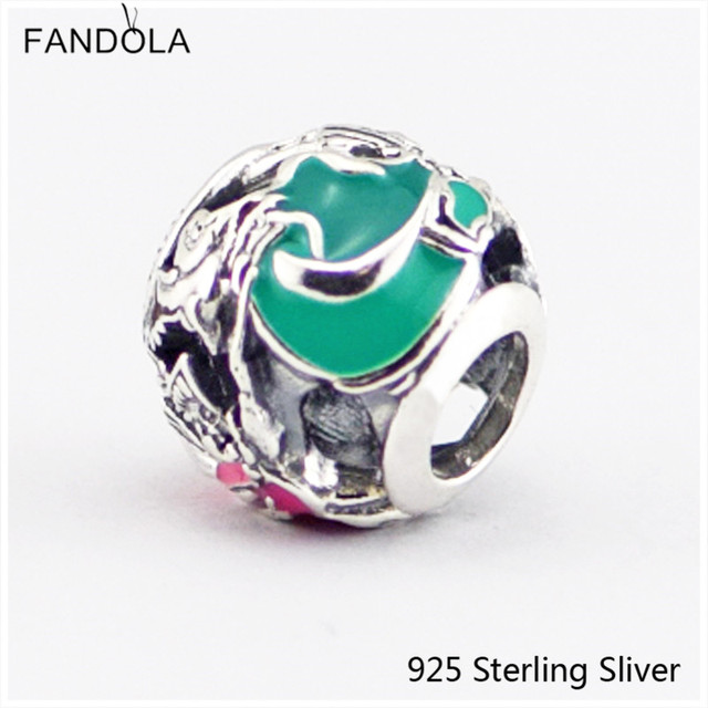 7eb0c18b3 Fits Pandora Bracelets 100% 925 Sterling Silver Jewelry Aurora's Fairy  Godmothers Original DIY Fashion Charms