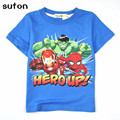2017 Summer New Boy T-shirt Children Cartoon Clothing Boy Cotton O-neck Clothes Kids Short-sleeved Tee&Tops Costume 3-8 Years