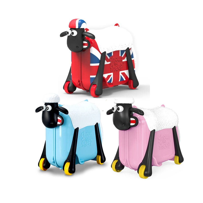 Cute Cartoon Children Rolling Luggage Spinner Suitcase Wheels Students Multifunction Sheep Trolley Kids Travel Bag