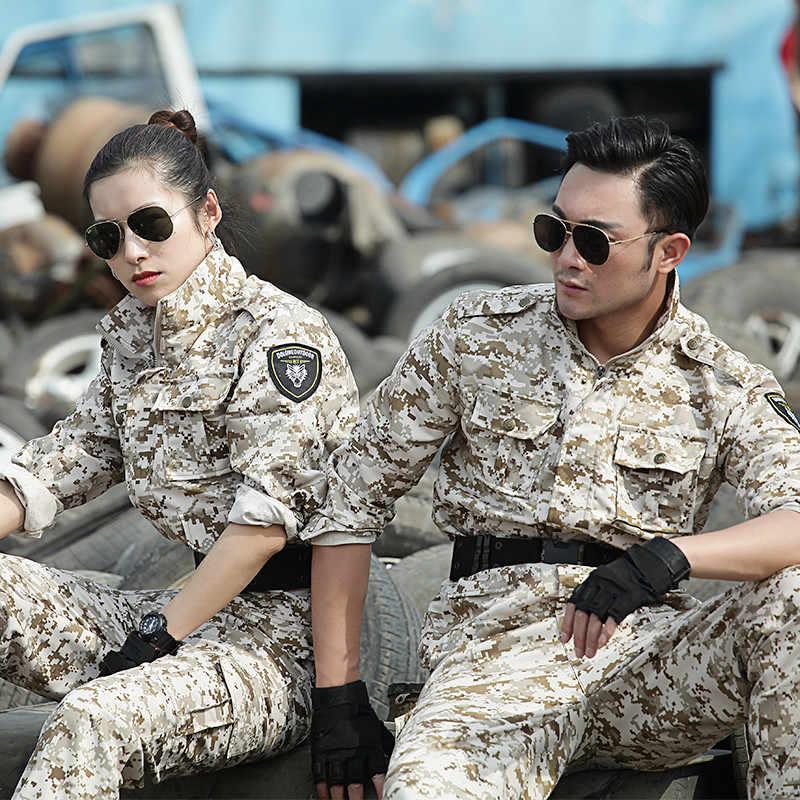Degli uomini Multicam Camouflage Caccia Vestiti di Pesca Abbigliamento Tattico Militare di Combattimento di Camo Vestiti Uniformi Dell'esercito Donne Ghillie Suit