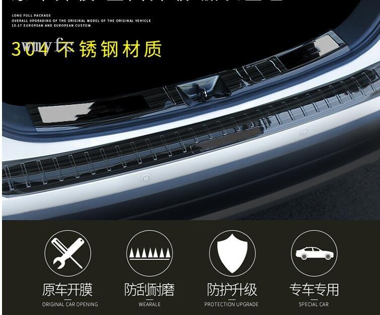 Edelstahl Innen Hinterer Stoßdämpfer-schutz-schwelle Trunk Tread Platte Trim Fit Für Mitsubishi Outlander 2016 Auto styling