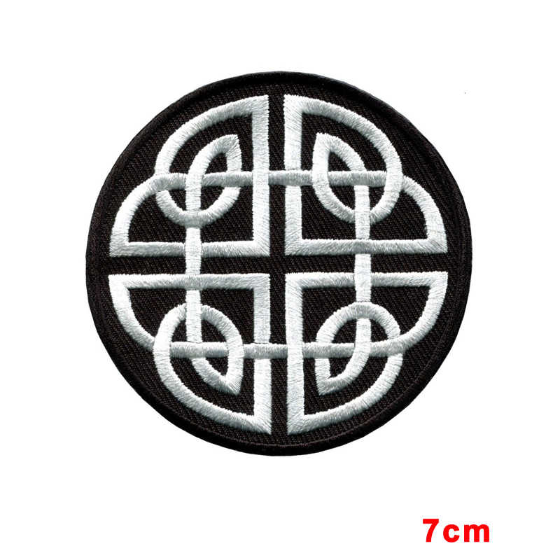 Celtic Knot Irish Goth Biker Tattoo Wicca Magic Applique Iron On
