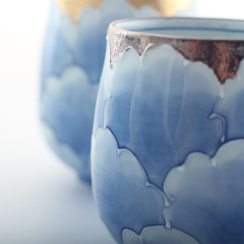 Сделано в Японии Профессиональный Классический пион ручной работы под остеклением Высокое качество Экологичные чайные чашки и кружки золо... - 3