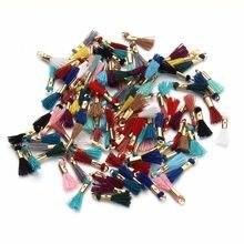 LOULEUR 100 قطعة/الوحدة 16 مللي متر Mixcolors القطن شرابة السحر ل المفاتيح الحرير شرابة قلادة تناسب القرط مع قبعات الذهب اللون Findind