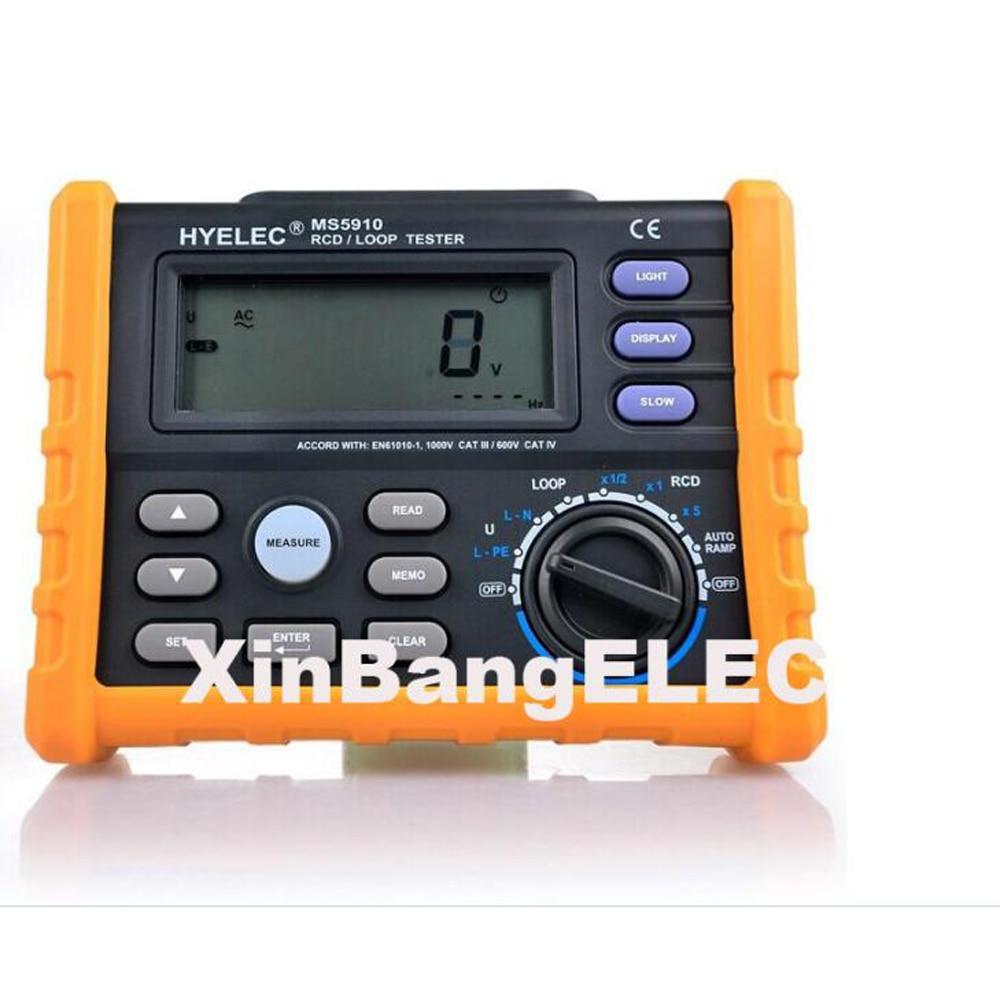 Disjoncteur RCD boucle testeur compteur durée de sortie et courant V Freq USB GFCI test de résistance à la boucle