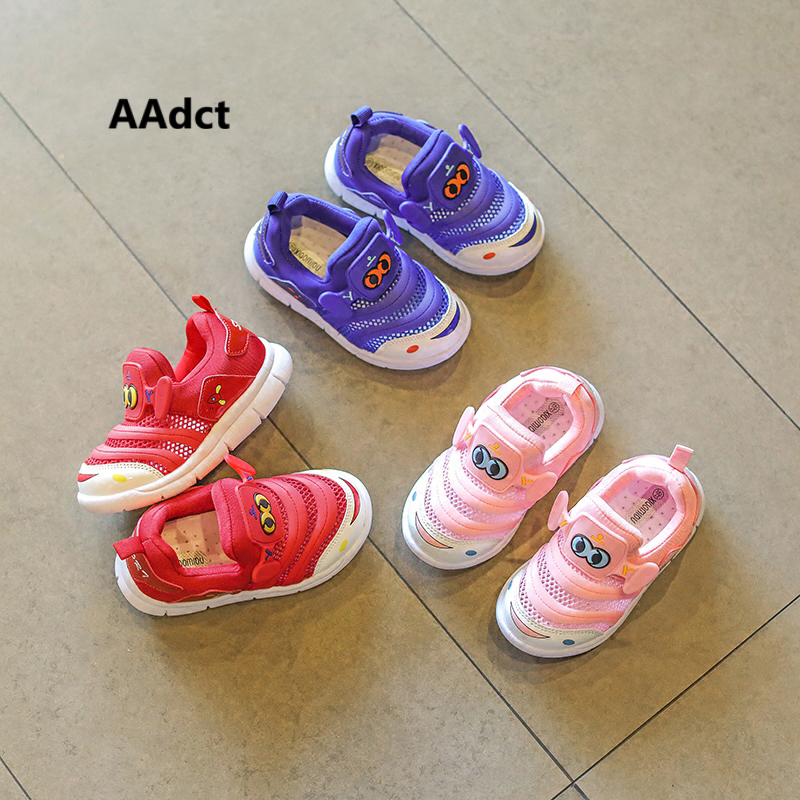 AAdct 2018 summer Mesh toddler baby girls shoes sports soft sole running little boys shoes sneakers Cartoon High-quality