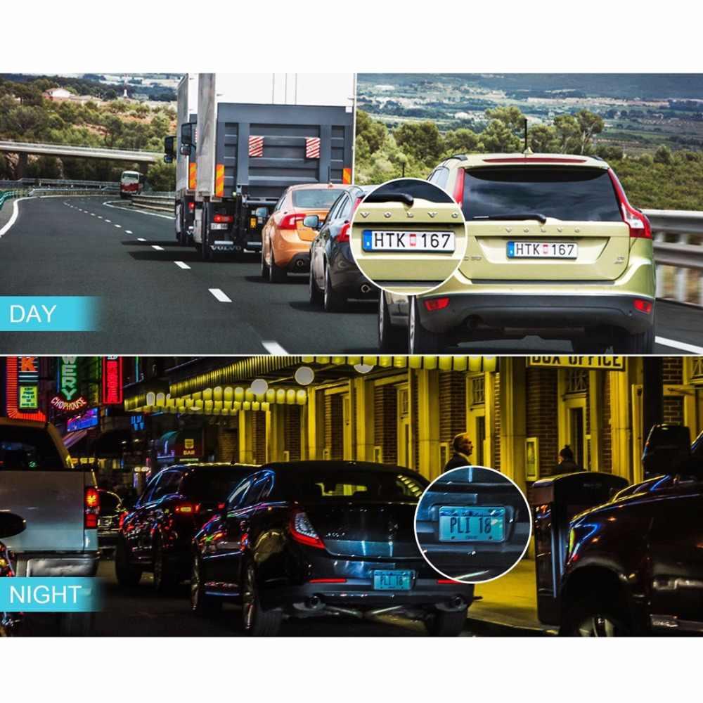 """داش كام سيارة بعدسة مزدوجة DVR كاميرا سيارة كامل HD 1080P 4 """"IPS الجبهة الخلفية للرؤية الليلية مسجل فيديو G-الاستشعار شاشة للمساعدة في ركن السيارة بسهولة"""