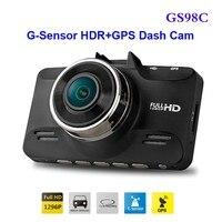 Free Shipping Original GS98C Ambarella A7 LA70 Car DVR Full HD Video Recorder 2304 1296P 30FPS