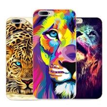 Linda Pantera Forte Leão Animal Design padrão Shell casos capa telefone macio caso capa tpu para apple iphone 7 4.7 polegadas