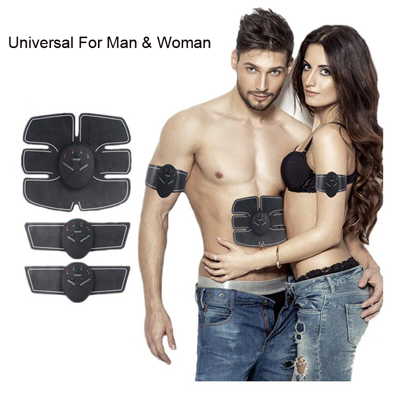 Smart EMS Electric Pulse Treatment Massager Abdominal Muscle Trainer Wireless Sports Muscle Stimulator Fitness Body Massager 3pcs set wireless intelligent abdominal muscle trainer lacy body massager fitness equipment for home use for women hot sale