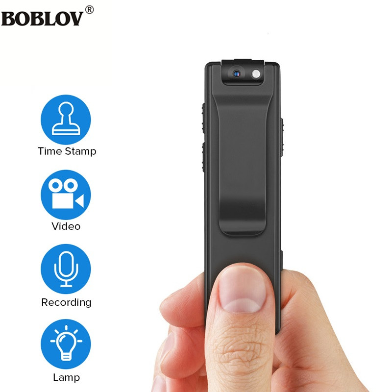 BOBLOV <font><b>A3</b></font> HD 1080P <font><b>Mini</b></font> Small <font><b>Camera</b></font> Camcorder Body Police Pen <font><b>Camera</b></font> <font><b>Mini</b></font> DVR Security Video Recorder for Teaching image