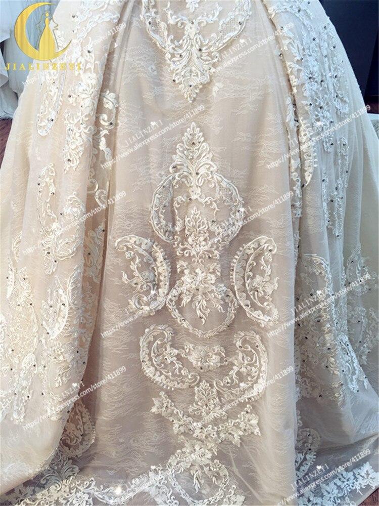 JIALINZEYI Sexy luxueux sans bretelles nu mode dentelle robe de bal Court Train elie saab mariée robes de mariée robe de mariée 2019 - 5