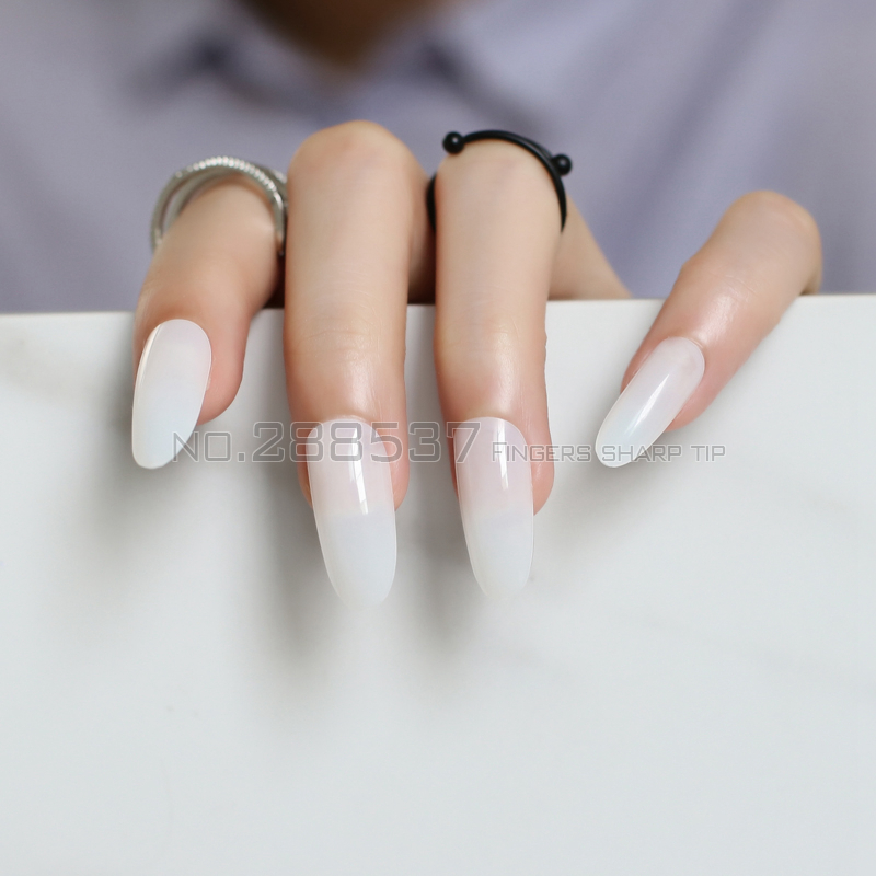 natural color Comfortable Artificial nails over long oval head ...