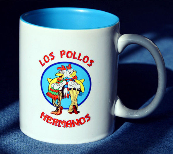 BREAKING BAD Los Pollos Hermanos Mug Collectible Ceramic Coffee Tea Milk Cups Mugs White Collectible Cosplay Christmas Gift Cup
