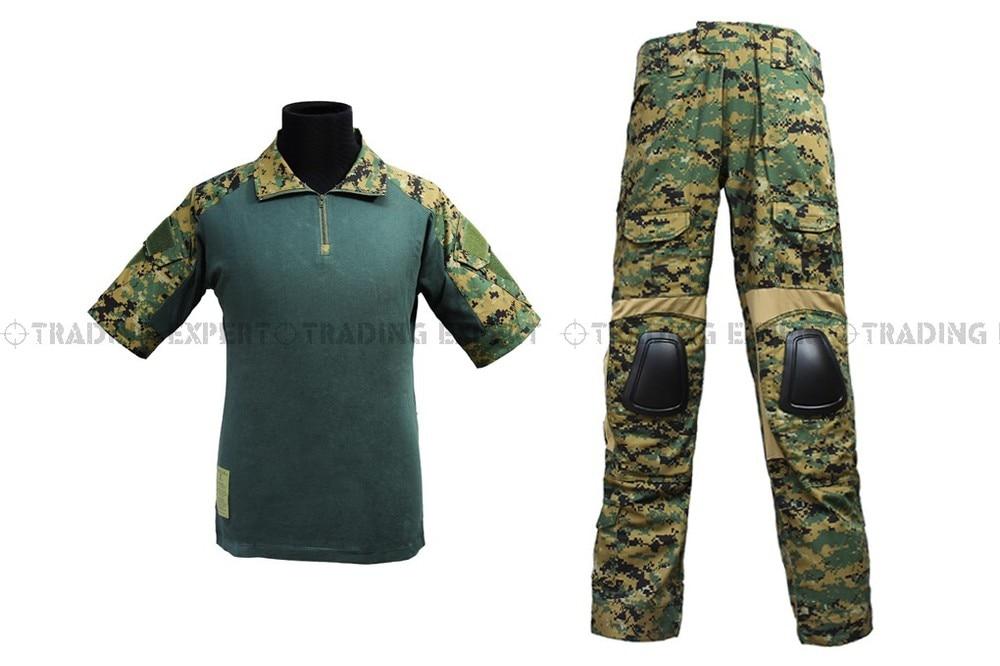 EMERSON Us Army Military Uniform For Men Combat Uniform - Summer Edition (Marpat Woodland) Em6920