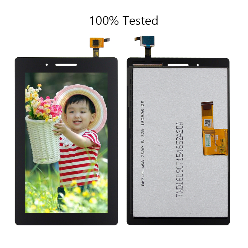 Free Shipping For Lenovo TAB 3 Essential 710F Tab3 TB3-710F TAB3-7 7Touch Screen Digitizer Lcd Display Assembly Replacement for 7 inch lenovo tab 2 a7 30 a7 30hc lcd display panel screen monitor replacement free shipping