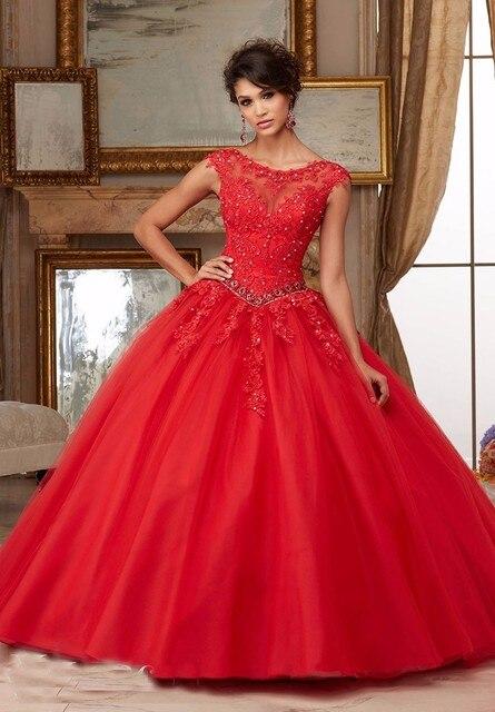 Vestidos quinceanera 2017 masquerade encantador frisado apliques colher longo vestido de baile de organza sweet 16 vestidos vestidos de 15 anos