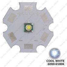 5 ШТ. Cree XLamp XPE XP-E R3 Холодный Белый 6000 К 320LM 1 Вт 3 Вт СИД Наивысшей Мощности Излучателя Света ж/20 мм Звезда базы