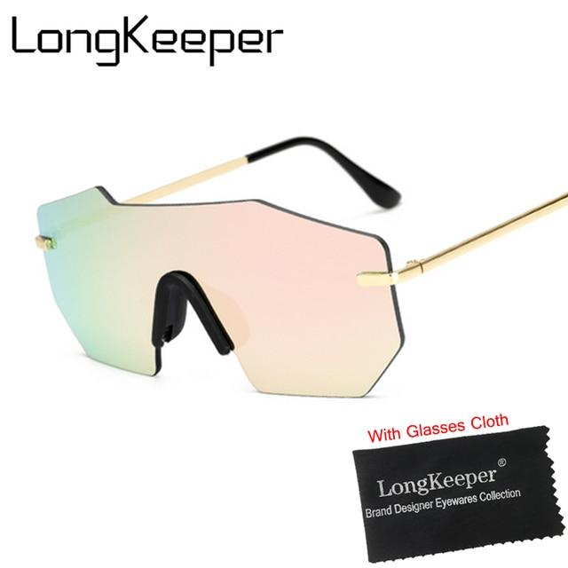 849b6ff8e2 LongKeeper Fashion Shield Rose Gold Sunglasses Women Luxury Shades Vintage  Brillen Men Woman gafas De Sol Feminino Gafas