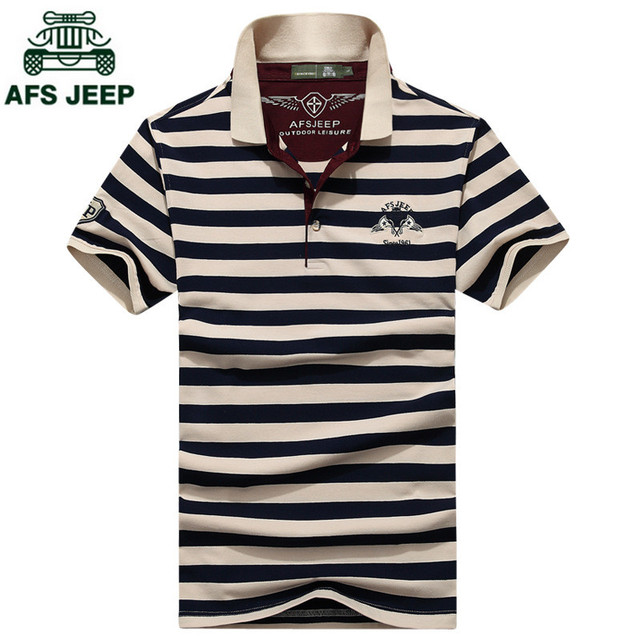 AFS JEEP Casual polo shirt men fashion letter long-sleeve men's polos new arrival fashion brand polo shirts man Loose polos