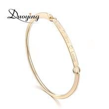 DuoYing 40*4mm золотой слиток браслет пользовательское имя медный браслет персонализировать начальной выгравировать имя и браслет Для etsy