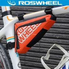 ROSWHEEL Triangle Bicycle Bag MTB Road Bike Tube Corner Frame Tool Saddle Bag Cycling Front Basket Pannier Bicycle Accessories