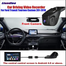 Liandlee Car DVR Front Camera Driving Video Recorder USB Plug For Ford Transit Tourneo Custom Android Screen AUTO CAM Antiradar liandlee car android for ford transit tourneo custom 2017 2018 radio camera carplay bt gps navi map navigation screen multimedia