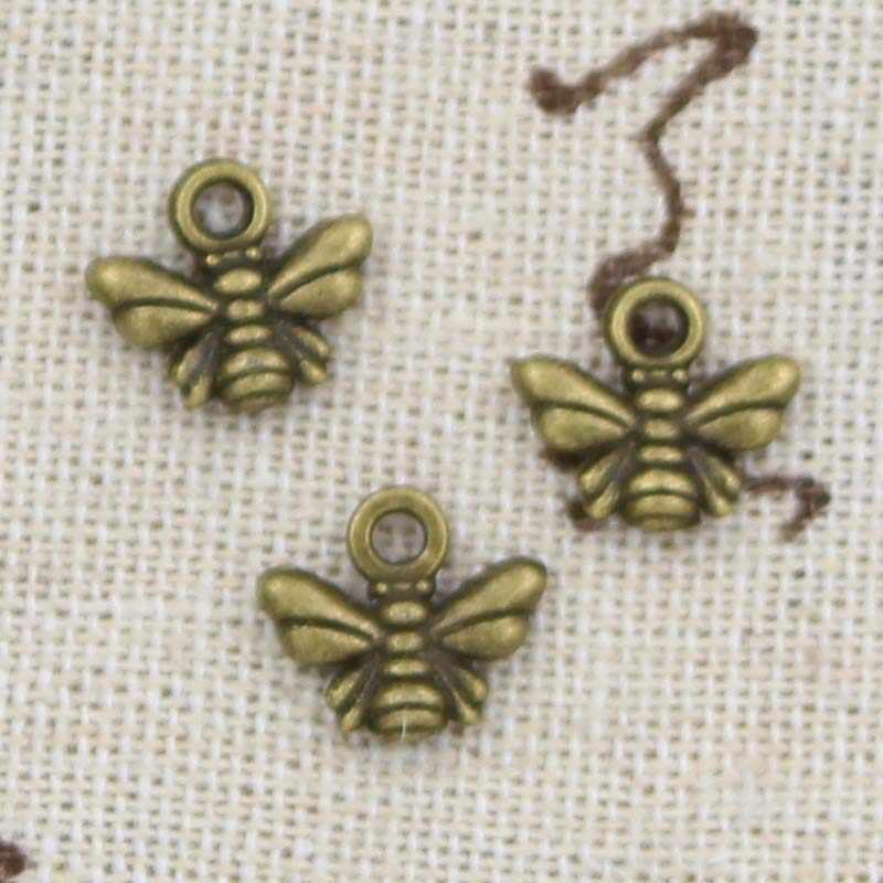 30 قطعة النحل السحر 10x11 مللي متر قلادة صنع العتيقة صالح ، Vintage البرونزية الفضة Tibetan ، DIY بها بنفسك اليدوية والمجوهرات