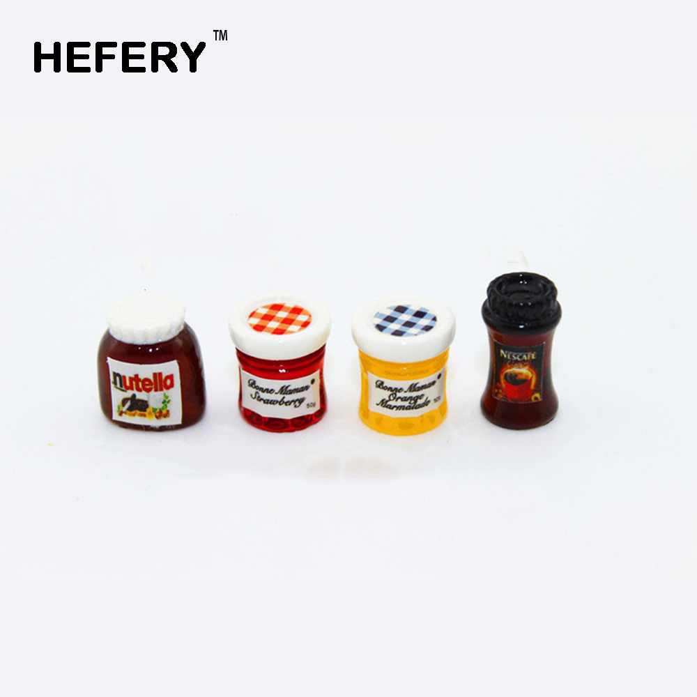 1/12 <font><b>Dollhouse</b></font> <font><b>Miniature</b></font> Accessories Mini Nutella Jam Coffee Simulation <font><b>Furniture</b></font> <font><b>Kitchen</b></font> Food Condiment Toys Doll House Decor image