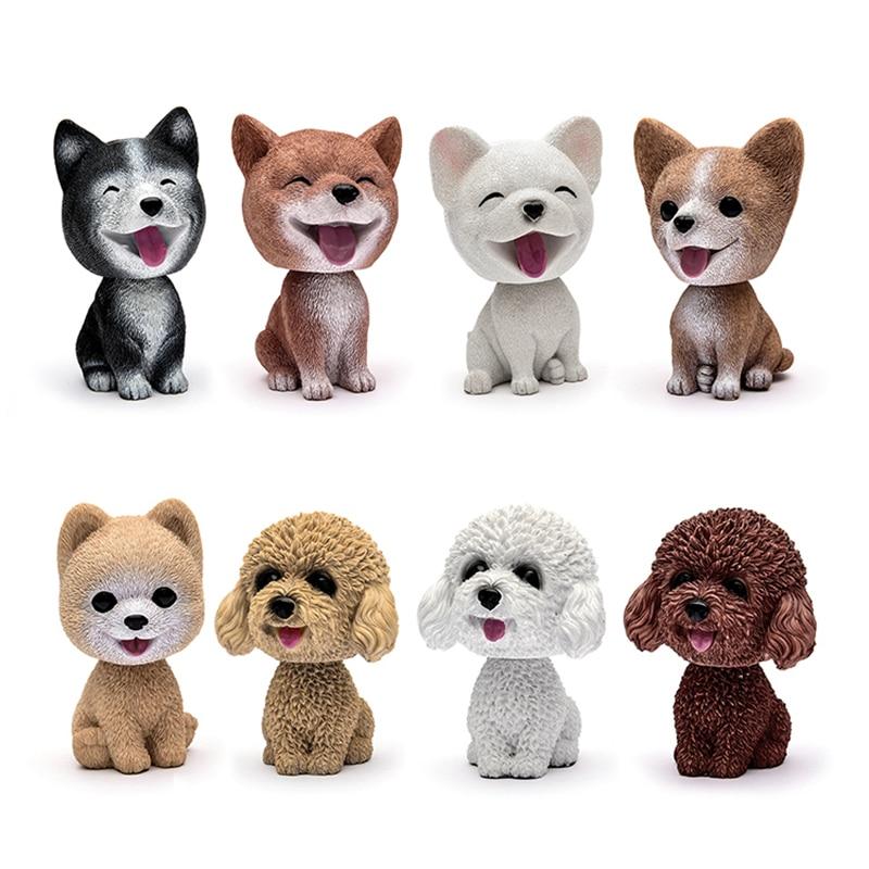 Car Ornaments Cute Shake Head Dog Doll Automobile Dashboard Decoration Puppy Toys Cute Auto Interior Decor Accessories Gifts Pakistan
