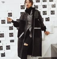 ZiZhen New Fashion Winter Women's Natural Tuscany sheepskin Sheep Fur OverCoat Fashion Double faced Fur Long Coat 181011 2