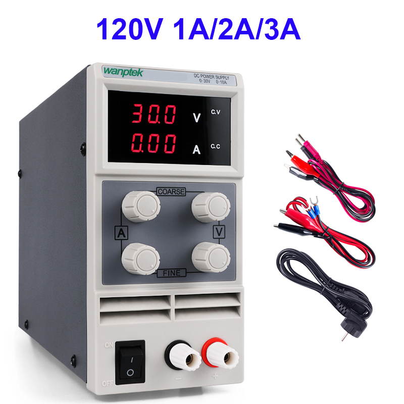 Switching Lab Power Supply Adjustable DC 120V 1A 2A 3A Bench Power Source Digital Laboratory Power