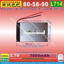 [L714] 3,7 V 7800mAh [805890] PLIB(полимерный литий-ионный/литий-ионный аккумулятор) для планшетных ПК, мобильных телефонов, банка питания