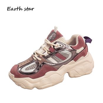 Casual White Shoes Women Chunky Sneakers Platform zapatos de mujer Spring chaussures femme Breathable Ladies footware Patchwork