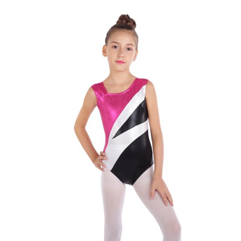 Tout Couleurs Gymnastique Danse Haut Cou Lycra Justaucorps Manches Longues