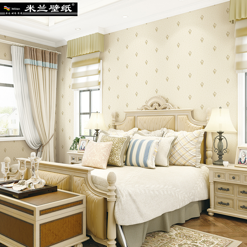 Milan European Style Fine Embossing of round Web Nonwoven Home Decor 3d Wallpaper Roll For Bedroom or Living Room 3d Wall Paper new fine fabric texture wall of setting of the bedroom a study wallpaper of europe type style yulan wallpaper fashion pavilion